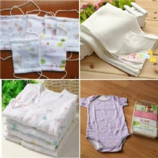 100% Cotton Double Check Gauze 40*40 88*64  For Baby Muslin, Saliva, girdle, scarf, handkerchief