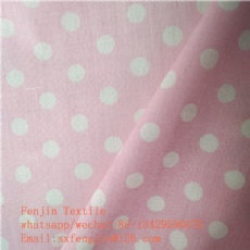 printed polyster cotton poplin fabric